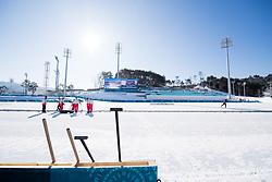 February 5, 2018 - Pyeongchang, SOUTH KOREA - 180205 Volunteers are preparing the Alpensia Cross-Country Centre ahead of the 2018 Winter Olympics on February 5, 2018 in Pyeongchang..Photo: Jon Olav Nesvold / BILDBYRN / kod JE / 160137 (Credit Image: © Jon Olav Nesvold/Bildbyran via ZUMA Press)