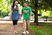 Pre-Wedding photographs of Tom and Jodie at the Memorial Gardens, Nottingham.