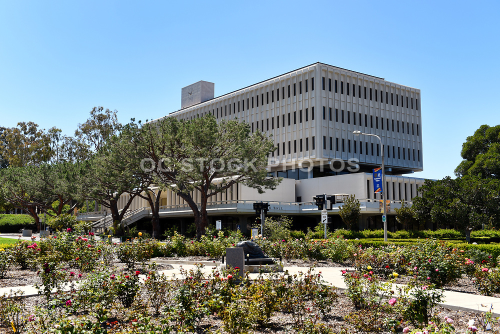 Aldrich Hall on the Campus of UCI and Laurel L. Wilkening Rose Garden