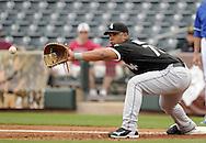 SURPRISE, AZ - MARCH 06:  Jose Abreu #79 of the Chicago White Sox fields against the Kansas City Royals on March 6, 2014 at The Ballpark in Surprise in Surprise, Arizona. (Photo by Ron Vesely)   Subject: Jose Abreu