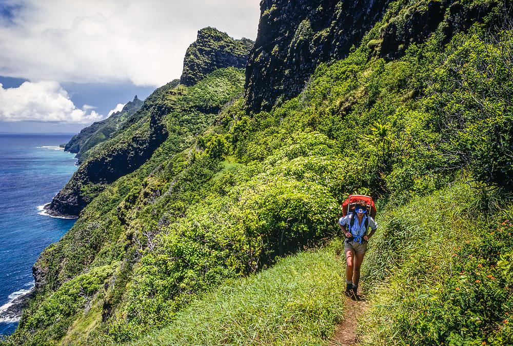 Tina Smith-O'Hara, Na Pali Coast backpacking, Hawaii, USA