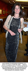LADY HENRIETTA SPENCER-CHURCHILL at a dinner in London on 26th May 2004.PUN 72