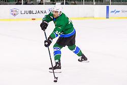 Selan Maks of HK SZ Olimpija during ice hockey match between  HK SZ Olimpija and HDD SIJ Acroni Jesenice in 23rd Round of AHL - Alps Hockey League 2017/18, on December 16, 2017 in Hala Tivoli, Ljubljana, Slovenia. Photo by Vid Ponikvar / Sportida