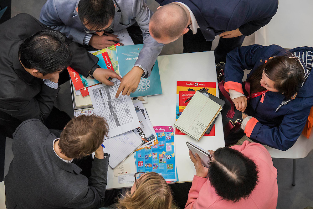 Meetings on the Penguin Stand - The London Book Fair, celebrating its 45 year anniversary, is the global marketplace for rights negotiation and the sale and distribution of content across print, audio, TV, film and digital channels. Staged annually, LBF sees more than 25,000 publishing professionals arrive in London for the week of the show to learn, network and kick off their year of business. The London Book Fair sits at the heart of London Book & Screen Week, and runs from the 12-14 April 2016.