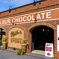 Lititz, PA, USA - August 21, 2020: The Wilbur Chocolate store is a popular store and tourist attraction in the downtown area.