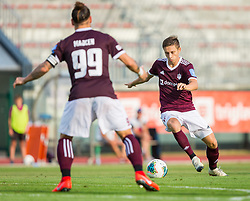 Tilen Mlakar of NK Triglav Kranj during Football match between NK Triglav Kranj and NK Rudar Velenje in Round #3 of Prva liga Telekom Slovenije 2019/20, on July 27, 2019 in Sports park Kranj, Kranj, Slovenia. Photo by Ziga Zupan / Sportida