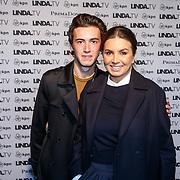 NLD/Amsterdam/20151026 - Lancering Linda TV, Rosanna Kluivert-Lima met haar zoon Nino Wilkes