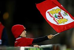 Bristol City fan waves a flag - Mandatory by-line: Robbie Stephenson/JMP - 09/08/2016 - FOOTBALL - Adams Park - High Wycombe, England - Wycombe Wanderers v Bristol City - EFL League Cup