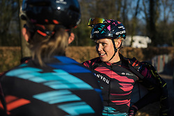 Tiffany Cromwell catches up with her teammates - Drentse 8, a 140km road race starting and finishing in Dwingeloo, on March 13, 2016 in Drenthe, Netherlands.