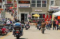 Flo's Chop Shop at Progressive Insurance and Bike Week 2015 Lakeside Avenue Weirs Beach, NH.  Karen Bobotas for the Laconia Daily Sun
