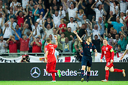 Jack Wilshere of England and Wayne Rooney of England celebrate after scoring first goal for England during the EURO 2016 Qualifier Group E match between Slovenia and England at SRC Stozice on June 14, 2015 in Ljubljana, Slovenia. Photo by Vid Ponikvar / Sportida