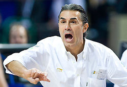 Head coach of Spain Sergio Scariolo during the EuroBasket 2009 Final match between Spain and Serbia, on September 20, 2009, in Arena Spodek, Katowice, Poland.   (Photo by Vid Ponikvar / Sportida)