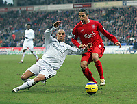 Photo: Paul Thomas.<br /> Bolton Wanderers v Liverpool. The Barclays Premiership.<br /> 02/01/2006.<br /> <br /> Stelios, Harry Kewell