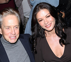 Michael Douglas and Catherine Zeta-Jones at the Michael Kors show at New York Fashion Week , Wednesday, 12th  September 2012. Photo by: Stephen Lock / i-Images.