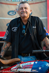 Don Dupree Sr of the California Hell Riders Wall of Death at the Iron Horse Saloon. Ormond Beach, FL.  Friday, March 9, 2018. Photography by Michael Lichter. ©2018 Michael Lichter