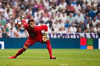 Celta de Vigo's player Sergio Alvarez during a match of La Liga Santander at Santiago Bernabeu Stadium in Madrid. August 27, Spain. 2016. (ALTERPHOTOS/BorjaB.Hojas)