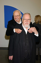 Left to0 right, artists ELLSWORTH KELLY and PETER BLAKE at an exhibition of leading artist Ellsworth Kelly at the Serpentine Gallery, Kensington Gardens, London followed by a dinner at the Riverside Cafe, London on 17th March 2006.<br /><br />NON EXCLUSIVE - WORLD RIGHTS