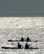 Le Havre, FRANCE, competing at the French and International, Coastal Rowing Championships. 14/10/2006. [Photo, Peter Spurrier/Intersport-images].....[Mandatory Credit Peter Spurrier/ Intersport Images] French, National and International Coastal Rowing Championships, Le Havre. FRANCE , Sunrise, Sunsets, Silhouettes