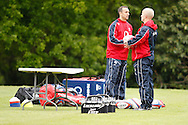 Picture by Andrew Tobin/Tobinators Ltd +44 7710 761829.24/05/2013.England assistants get ready for the England training session at Pennyhill Park, Bagshot ahead of the match against the Barbarians on 26th May 2013.