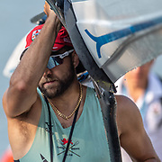 Dara Alizadeh of Cambridge University Boat Club <br />     <br /> World Championships, raced on the Regattastrecke, Linz Ottensheim, Austria. Tuesday 29 August 2019  © Copyright photo Steve McArthur / @RowingCelebration www.rowingcelebration.com
