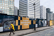 Shaping Birmingham's future hoarding  as work continues for the redevelopment of Paradise on 7th October 2020 in Birmingham, United Kingdom. Paradise, formerly named Paradise Circus, is the name given to an area of approximately 7 hectares in Birmingham city centre between Chamberlain and Centenary Squares. The area has been part of the civic centre of Birmingham since the 19th century. From 2015 Argent Group will redevelop the area into new mixed use buildings and public squares.