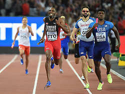 August 13, 2017 - London, England, United Kingdom - Trinidad Tobago winning the  4 times 400 meter  final in London at the 2017 IAAF World Championships athletics. (Credit Image: © Ulrik Pedersen/NurPhoto via ZUMA Press)