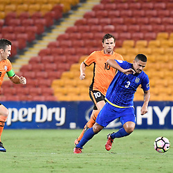 BRISBANE, AUSTRALIA - JANUARY 31: Matthew Hartmann of Global FC controls the ball during the second qualifying round of the Asian Champions League match between the Brisbane Roar and Global FC at Suncorp Stadium on January 31, 2017 in Brisbane, Australia. (Photo by Patrick Kearney/Brisbane Roar)