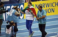 Photo: Rich Eaton.<br /> <br /> EAA European Athletics Indoor Championships, Birmingham 2007. 04/03/2007. Assunta Legnante of Italy wins gold in the womens shot put