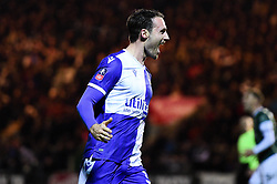 Alex Rodman of Bristol Rovers celebrates scoring his sides first goal of the game - Mandatory by-line: Ryan Hiscott/JMP - 17/12/2019 - FOOTBALL - Home Park - Plymouth, England - Plymouth Argyle v Bristol Rovers - Emirates FA Cup second round replay