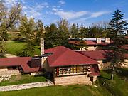 Photogrpah of Frank Lloyd Wright's Taliesin School. Iowa County, near Spring Green, Wisconsin, USA.