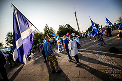 17SEP20 All Under One Banner demo outside the BBC at Pacific Quay.