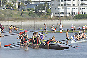 San Diego, California. USA. General Views, Crews boating from the beach. 2013 Crew Classic Regatta, Mission Bay.  10:51:32.  Saturday  06/04/2013   [Mandatory Credit. Peter Spurrier/Intersport Images]  ..