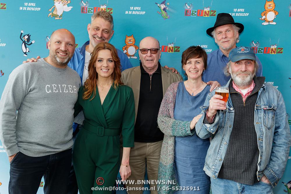 NLD/Amsterdam/20190402 - Persdag Heinz, Ruben van der Meer, Ilse Warringa, Burny Bos, striptekenaars Eddie de Jong en René Windig