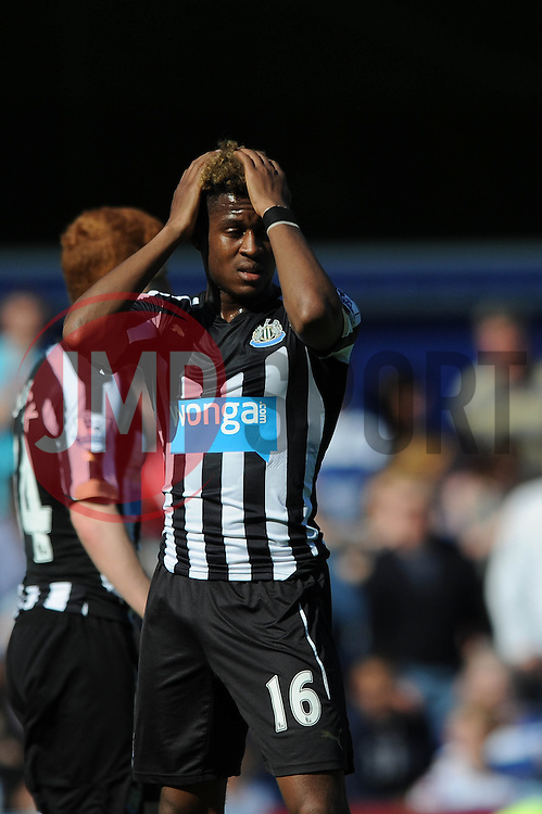 Newcastle United's Rolando Aarons cuts a dejected figure - Photo mandatory by-line: Dougie Allward/JMP - Mobile: 07966 386802 - 16/05/2015 - SPORT - football - London - Loftus Road - QPR v Newcastle United - Barclays Premier League