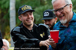 30-year Ness fabricator and mechanic Jeff Border at the home of Kim and Jon Borneman after the Arlen Ness Memorial - Celebration of Life. Pleasanton, CA, USA. Saturday, April 27, 2019. Photography ©2019 Michael Lichter.