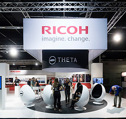 Ricoh and Pentax stand at Photokina trade fair in Cologne, Germany , 2016