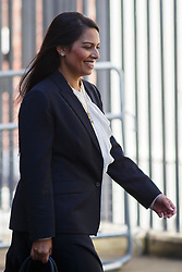 © Licensed to London News Pictures. 12/05/2015. LONDON, UK. Minister for Employment Priti Patel attending to the first Conservative cabinet meeting after the 2015 general election in Downing Street on Tuesday, 12 May 2015. Photo credit: Tolga Akmen/LNP