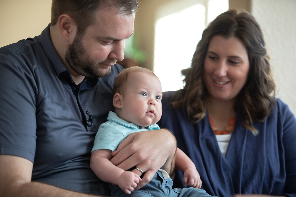Sutter Health patients Michelle & Jabin Kille, and baby Hart photographed Wednesday, April 11, 2018 in West Sacramento, Calif.