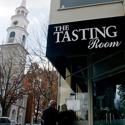 Frederick, Maryland - Outside The Tasting Room on N. Market Street an upscale bistro adn wine bar in the heart of the shopping district.  Photo by Susana Raab