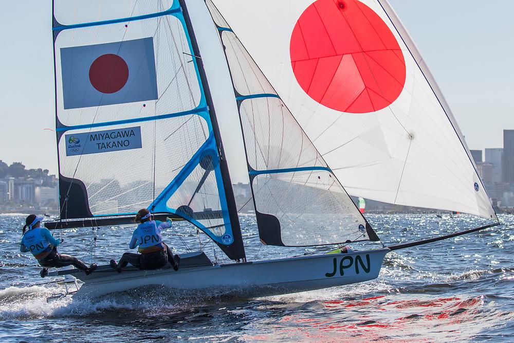 49er FX JPN Keiko Miyagawa JPNKH11 Sena Takano JPNST8<br /> <br /> 2016 Olympic Games <br /> Rio de Janeiro