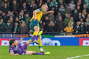 GOAL! Celtic Captain Scott Brown scores his 2nd of the game during the Betfred Scottish League Cup semi-final match between Hibernian and Celtic at Hampden Park, Glasgow, United Kingdom on 2 November 2019.