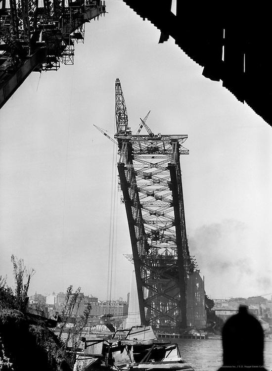 Sydney Harbour Bridge Under Construction, Australia, 1930