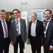 31.08. 2017.                                   <br /> Leaders in the pharmaceutical manufacturing sector in Ireland gathered at University of Limerick today for the third annual Pharmaceutical Manufacturing Technology Centre (PMTC) Knowledge Day.<br /> <br /> Pictured at the event were, Jon O'Halloran, SSPC General Manager UL, Prof. Harry Van den Akker, UL, Luuk Van Der Wielen, Director Bernal Institute and Prof Gavin Walker, Bernal Chair in Pharmaceutical Powder Engineering, UL.<br /> <br /> The event provided a showcase for the cutting-edge research supported by the centre with key note addresses from industry thought leaders who shared their vision of the future for the pharmaceutical sector. Picture: Alan Place