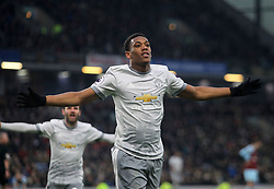 Anthony Martial of Manchester United celebrates after scoring his sides first goal - Mandatory by-line: Jack Phillips/JMP - 20/01/2018 - FOOTBALL - Turf Moor - Burnley, England - Burnley v Manchester United - English Premier League