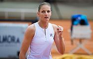 Karolina Pliskova of the Czech Republic in action during the second round of the 2021 Internazionali BNL d'Italia, WTA 1000 tennis tournament on May 12, 2021 at Foro Italico in Rome, Italy - Photo Rob Prange / Spain ProSportsImages / DPPI / ProSportsImages / DPPI