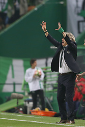 April 22, 2017 - Lisbon, Portugal - Sporting's head coach Jorge Jesus reacts during the Portuguese League football match Sporting CP vs SL Benfica at the Alvadade stadium in Lisbon on April 22, 2017. (Credit Image: © Pedro Fiuza/NurPhoto via ZUMA Press)