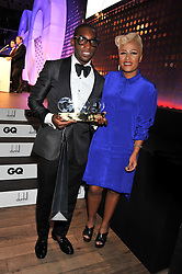 Winner of the Solo Artist Award TINIE TEMPAH and EMELI SANDE who presented the award at the GQ Men of The Year Awards 2012 held at The Royal Opera House, London on 4th September 2012.