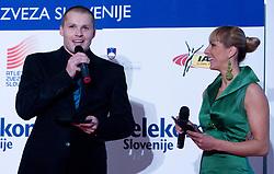 Urban Acman and Alenka Bikar at Best Slovenian athlete of the year ceremony, on November 15, 2008 in Hotel Lev, Ljubljana, Slovenia. (Photo by Vid Ponikvar / Sportida)