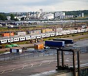 Harwich, Essex, England Port activity in the docks of Parkeston Quay, Harwich International, Essex, England
