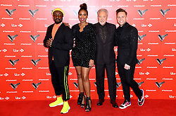 will.i.am, Jennifer Hudson, Tom Jones and Olly Murs attending The Voice UK 2019 Launch Photocall held at W Hotel, Leicester Square, London. Picture credit should read: Doug Peters/EMPICS